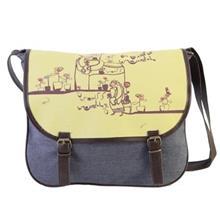 کیف دوشی پارچه ای گالری مرغک مدل 184020 طرح گل گلدون من