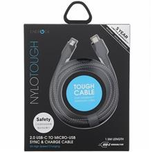 Energea Nylotough USB-C To microUSB Cable 1.5m