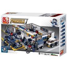 اسباب بازي ساختني اسلوبان مدل Formula F1 Blue Lighting Maintenance Station M38 B0356