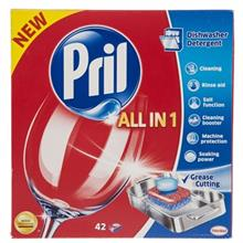 Pril All In 1 Dishwasher Tablets Pack Of 42