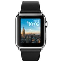 Apple Watch 38mm - Stainless Steel Case with Black Classic Buckle - MLE62 New