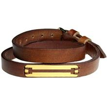 دستبند طلا 18 عیار سیم و گوهر مدل GLP123