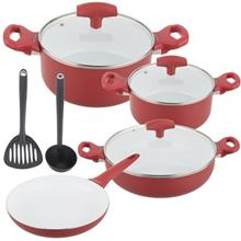 Pedrini Vanilla cookware Set 9Pcs