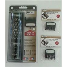 پک شانه ماشین اصلاح وال مدل Wahl Premium Cutting Guide with Metal Clip 8 Pack 3171-500