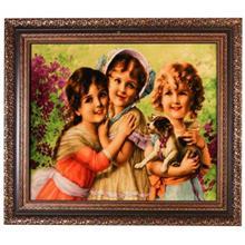تابلو فرش گالری مثالین طرح دختر 25013