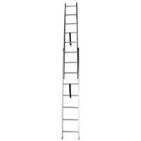 نردبان مخابراتی 21 پله 2 کشو آلوم راد