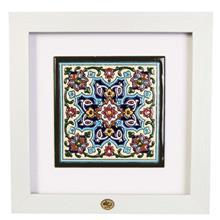 قاب کاشی هفت رنگ گنجینه میراث مدل 128009 طرح چهار باغ