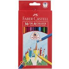 مداد رنگي 30 رنگ فابر کاستل مدل Tri Colour