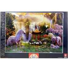 پازل 500 تکه ادوکا مدل Unicorn Valley of Water Falls