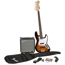 Fender Squier Affinity Jazz Bass Brown Sunburst Bass Guitar Package