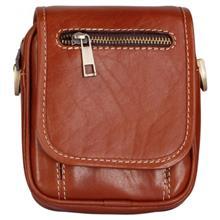 کیف دوشی چرم طبیعی سرخانه دار کد D203