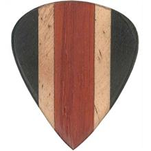 Clayton Exotic ALAIA Black EABK3 Guitar Wood Picks 3 Pack
