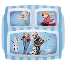 Blue Baby Frozen Elsa Baby 3-Section Plate