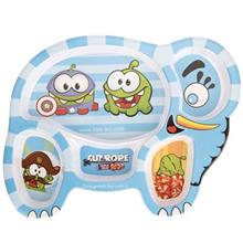 Blue Baby Cut The Rope Baby Divided Plate