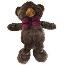 عروسک پاليز مدل Bear With Purple Tie ارتفاع 55 سانتي متر
