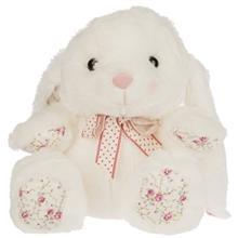 عروسک هاگز بيبي مدل White Rabbit سايز متوسط