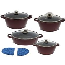 Candid 8 Pieces Cookware Set 2 Color With Glass Lid - Classic Handle