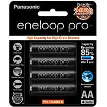 Panasonic Eneloop Pro BK-3HCDE/4BE Rechargeable AA Battery Pack Of 4