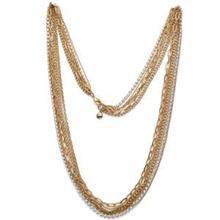 گردنبند زنانه  الیور وبر کریستال طرح زنجیر طلایی Chain Mix gold crystal