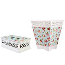 سطل و جعبه دستمال کاغذی ام دی اف گالری کارن دکور