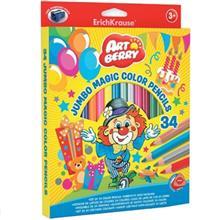 مداد رنگي 12 رنگ اريش کراوزه مدل Jumbo Magic