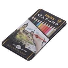 مداد رنگي 12 رنگ هليکس آکسفورد