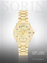 ساعت مچی زنانه سورین L0457 (طلایی صفحه:طلایی )