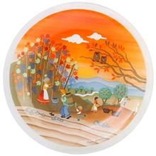 بشقاب پلوخوری شیشه ای گالری سیلیس کد 180001 طرح مزرعه