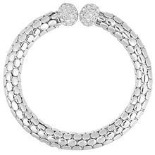دستبند النگويي اليور وبر مدل Flex Rhod Crystal 32117R