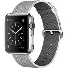 Apple Watch 2 42mm Silver Aluminum Case with Pearl Woven Nylon Band