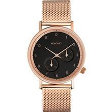 Komono Walther Rose Gold Mesh Watch