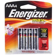 Energizer Max Alkaline AAA Battery Pack Of 4