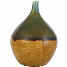بطري سراميکي هومن دو رنگ اکر سبز کد 169015