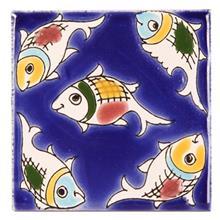 کاشی سرامیکی گنجینه میراث مدل 128024 طرح پنج ماهی