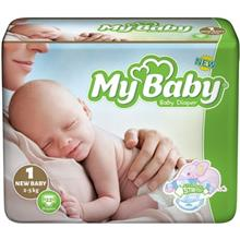 My Baby Stretchy Size 1 Diaper Pack of 22