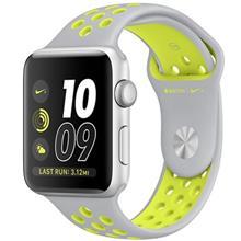 ساعت مچی هوشمند اپل واچ 2 مدل Nike Plus 42mm Silver with Silver Volt Band