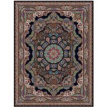 فرش ماشینی کهکشان طرح پانیز زمینه سورمه ای