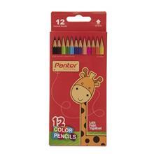 مداد رنگي 12 رنگ پنتر