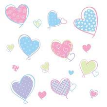 استيکر روميت مدل Hearts Appl