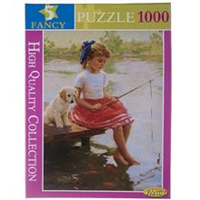 Fancy Little Girl In Lake 1000Pcs Toys Puzzle