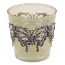 Butterfly 32782 Glass Candle Holder