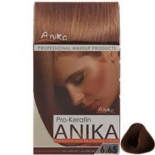 کيت رنگ مو آنيکا سري Pro Keratin مدل Chocolate شماره 6.65