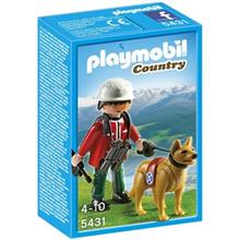 ساختني پلي موبيل مدل Mountain Rescuer with Search Dog 5431