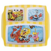 Blue Baby Sponge Bob Baby 3-Section Plate