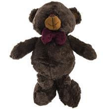 عروسک پاليز مدل Bear With Purple Tie ارتفاع 35 سانتي متر