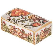 جعبه استخواني اثر بهشتي مدل کبريتي طرح گل و مرغ 2