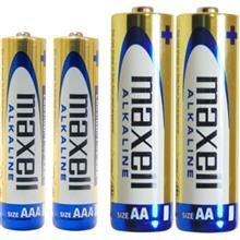 Maxell Alkaline AA and AAA Battery Pack of 4