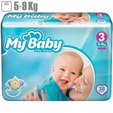 My Baby Chamomile Size 3 Diaper Pack of 38