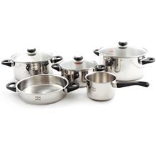 Pars Steel 08 Cookware Set 8 Pieces