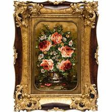 تابلو فرش گالری سی پرشیا طرح سبد چوبی گل کد 901129